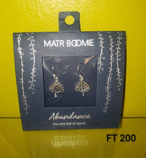 SHANASA STERLING SILVER CHARM EARRINGS - ABUNDANCE